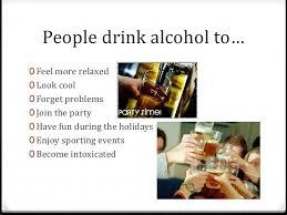 alcohol u0026 drinking presentation