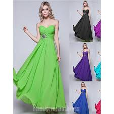 long floor length chiffon bridesmaid dress black lime green