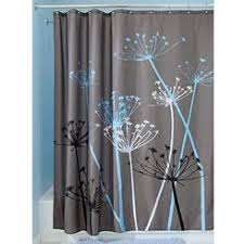 Gray Fabric Shower Curtain Dark Grey Shower Curtain