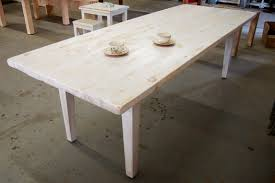 white stain on wood table white washed farm table lorimer workshop