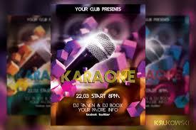 karaoke in club flyer flyer templates creative market