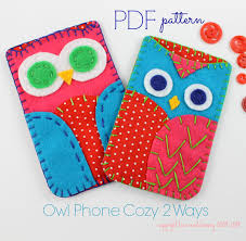 owl phone cases digital pattern sewing pattern embroidery