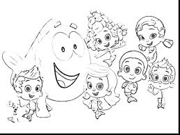bubble guppies printable pictures color molly coloring pages