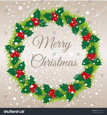 merry christmas christmas garland christmas stock vector