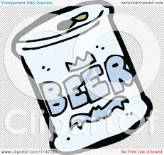 cartoon beer no background cartoon of a beer can royalty free vector clipart by