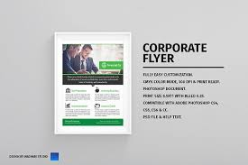 financial flyer template flyer templates creative market