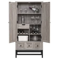 Oak Bar Cabinet Home Bar Cabinet In Sonoma Oak 5290096com