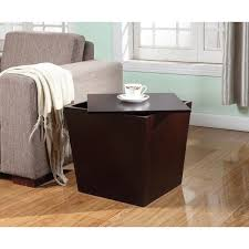 Storage End Table Alpes Multifunction Espresso Wood Storage Cube End Table Free