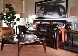 livingroom johnston johnston roll arm leather incliner sofa ethan allen ethan allen