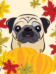 black pug thanksgiving flag garden size contemporary flags and