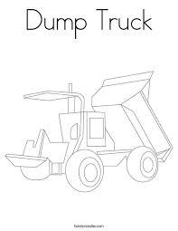 dump truck coloring page twisty noodle