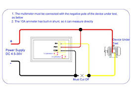 drok accurate voltmeter ammeter dc4 5 30v voltage current meter 2