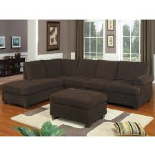 Shop Poundex Furniture F7135 Bobkona Two Piece Sectional Sofa At Atg