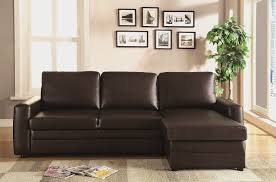 Chocolate Sectional Sofa Gus Sectional Sofa With Pull Out Bed U0026 Storage Chocolate Brown