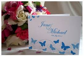 Folded Invitation Card Yellow Blossom Designs Elegant Butterfly Collection Diamantes