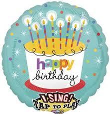singing birthday balloons singing birthday cake candles foil balloon