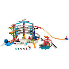 wheels ultimate garage playset with car wash walmart com