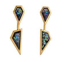 detachable earrings geometric vintage drop detachable earrings in black deistic