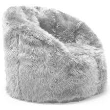 Faux Fur Bean Bag Chairs Dining Room Great Ivory Polar Bear Faux Fur Beanbag Pbteen Inside