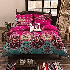 amazon com rainbow tree 3pc bedding set duvet cover and two