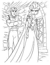queen elsa mad prince hans coloring pages queen elsa mad