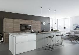 cuisine bois gris moderne cuisine gris et blanc intérieur intérieur minimaliste