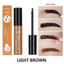 light brown gel eyeliner sanuo waterproof peel off eyebrow tint temporarily tattoo my brows