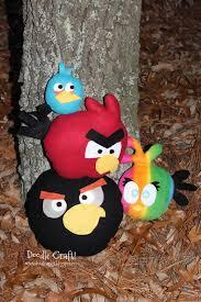 doodlecraft diy angry bird plushies