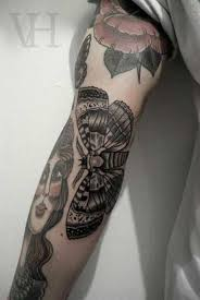 dagger butterfly arm decorate design idea for and