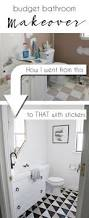 Bathroom Wall Ideas On A Budget Top 25 Best Budget Bathroom Makeovers Ideas On Pinterest Budget