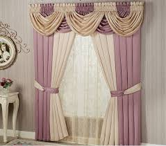 Dining Room Valance Curtains Window Valance Curtains In Beige And Ash Pink Living Room For