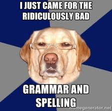 Bad Grammar Meme - the most misused words in the english language the poodle and dog