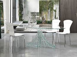 Glass Dining Room Tables To Revamp With From Rectangle To Square - Modern glass dining room furniture