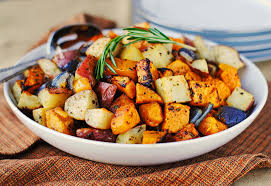 butternut squash for thanksgiving roasted butternut squash onions and red potatoes with fresh herbs