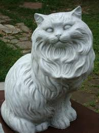 classic sleeping cat garden statue contemporary garden statues and