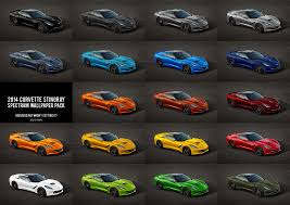 2014 corvette colors here is what the corvette stingray will look like in any color