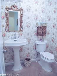 transforming a bland powder room into a lovely french bathroom