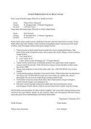 contoh surat perjanjian jual beli tanah terbaru 2017