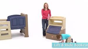 Step2 Lift Hide Bookcase Storage Chest Blue Lift U0026 Hide Bookcase Storage Chest Tan U0026 Blue Kids Toy Box Step2