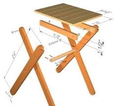 Wood Plans For End Tables by Folding Table Plans Forget Buying That Table We Keep Seeing