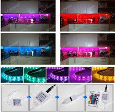 led strip lights kitchen colour changing wall lights ebay