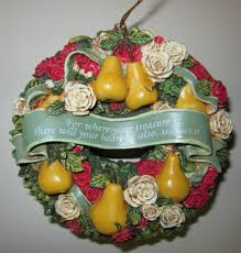 glynda turley matthew 6 21 wreath heirloom holiday ornament series