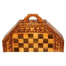 bali indonesian wooden hand carved unique chess set with 32 chess