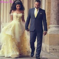 engagement dresses 2016 daffodil arabic evening dresses the shoulder lace