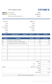 Process Server Invoice Template by Invoice Ledger Software