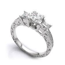 platinum princess cut engagement rings vintage princess cut engagement rings vintage princess cut