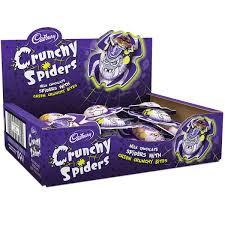 Halloween Chocolate Gifts Crunchy Chocolate Crunchy Spiders X 26 Halloween Cadbury Gifts
