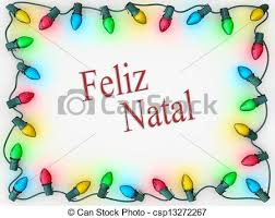 stock image of lights border merry portuguese