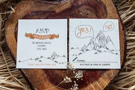 mountain wedding invitations whimsical mountain woodland wedding invitation rsvp from the
