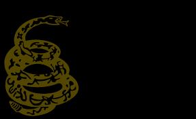 Yellow Flag With Snake Gadsden Flag Wallpaper